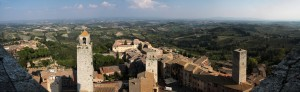 Panoramic view of San Gimignano